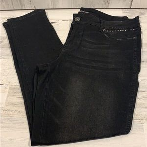 Maurice's black jeans, size XL
